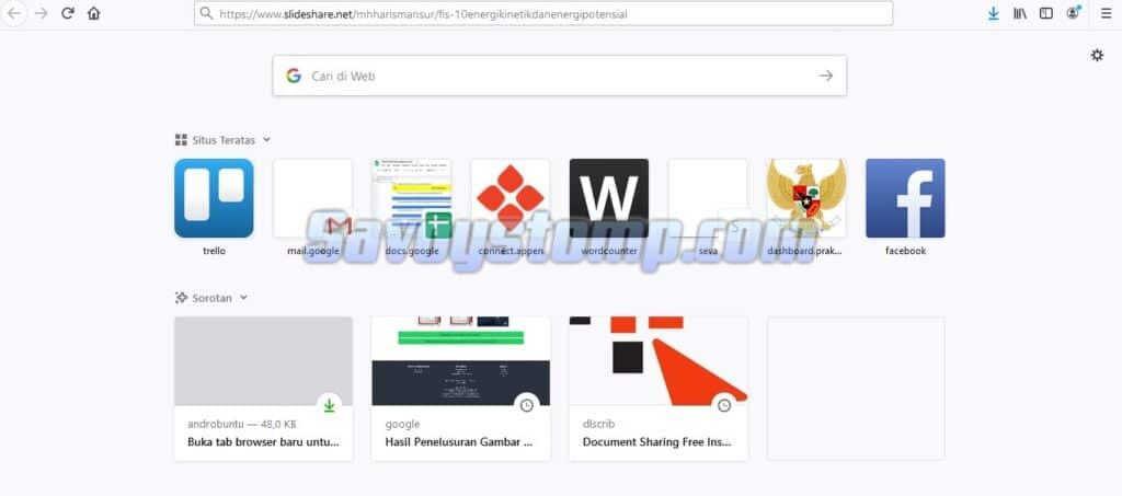 Cara download slideshare dengan browser di desktop