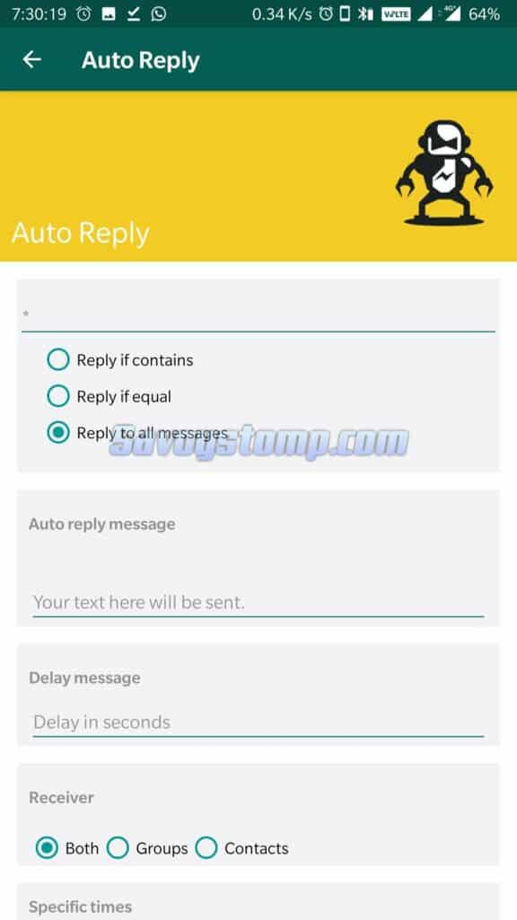Fitur Auto Reply