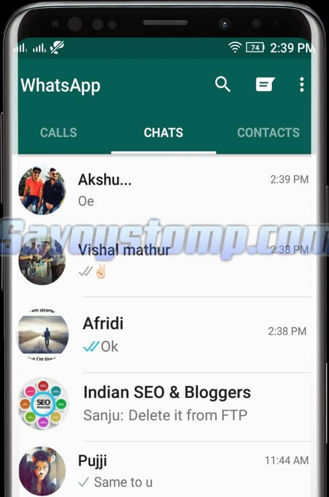 Interface Whatsapp Sniffer yang simple