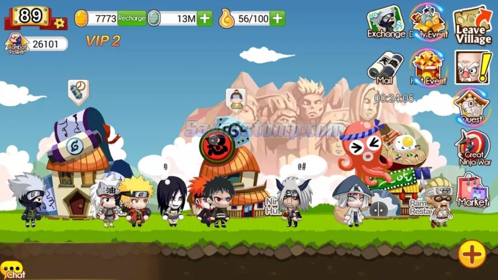 Perbedaan Ninja Heroes Mod APK