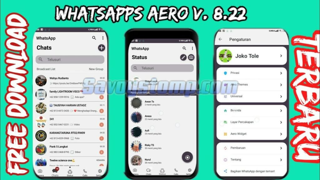 Review Aplikasi WhatsApp Aero