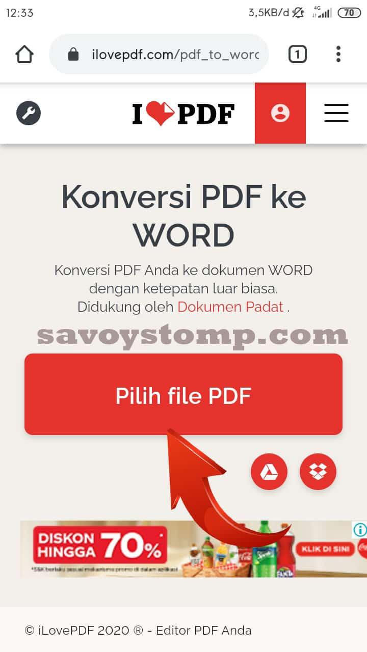 1. pilih file pdf