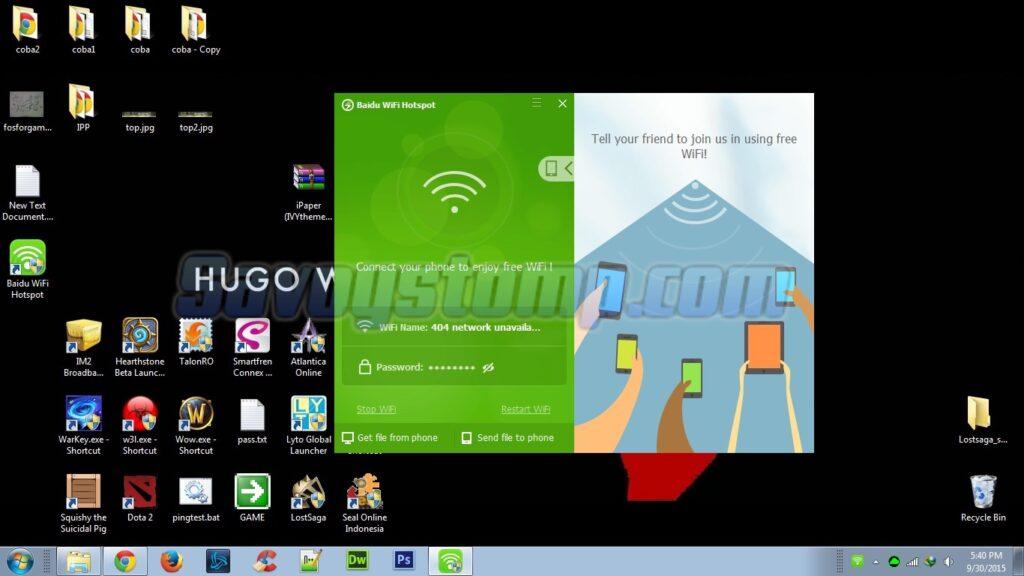 Cara Membuat Hotspot di Laptop menggunakan Baidu-Hotspot-Wifi