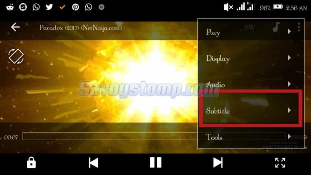 Format-Subtitle MX Player Pro