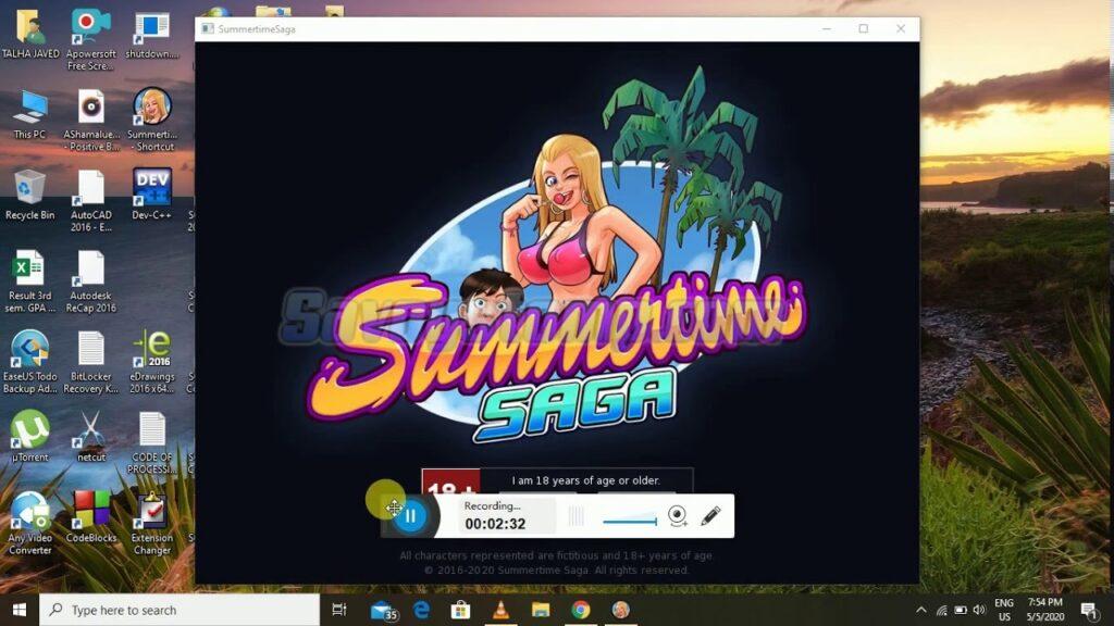 Penyimpanan data summertime saga mod apk