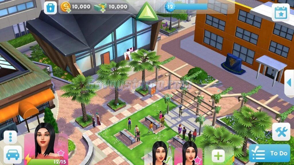 Perbedaan-the sims mobile mod apk Original-dan-Mod