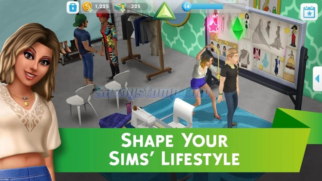 The Sims Mobile Unlimited-Lafestyle-Points
