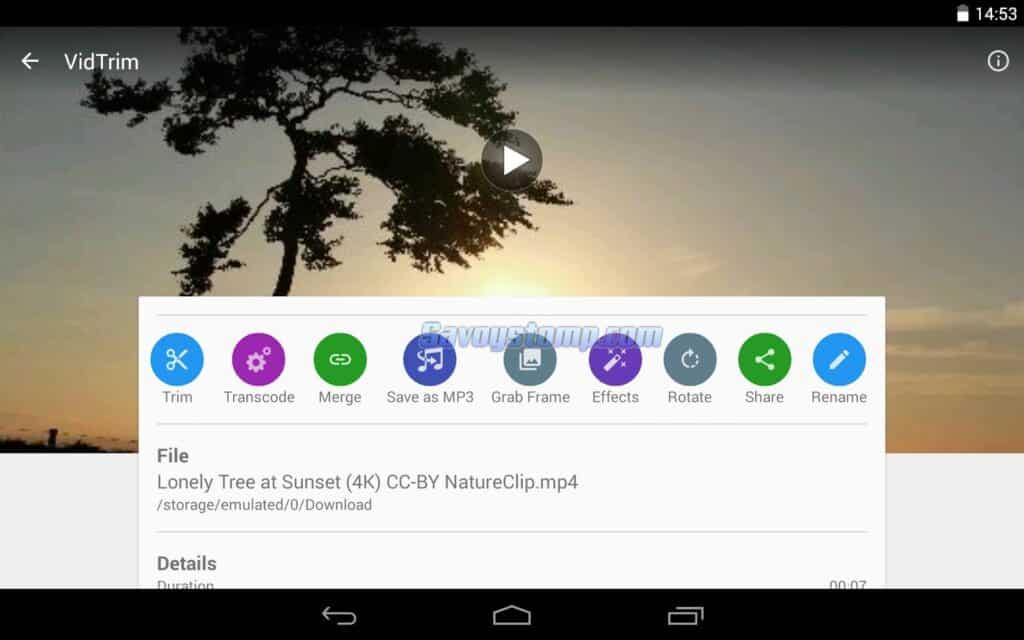 Aplikasi Pemotong Video VidTrim