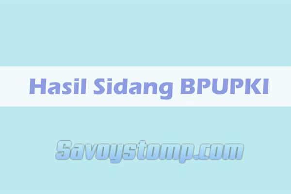 hasil sidang bpupki dan ppki