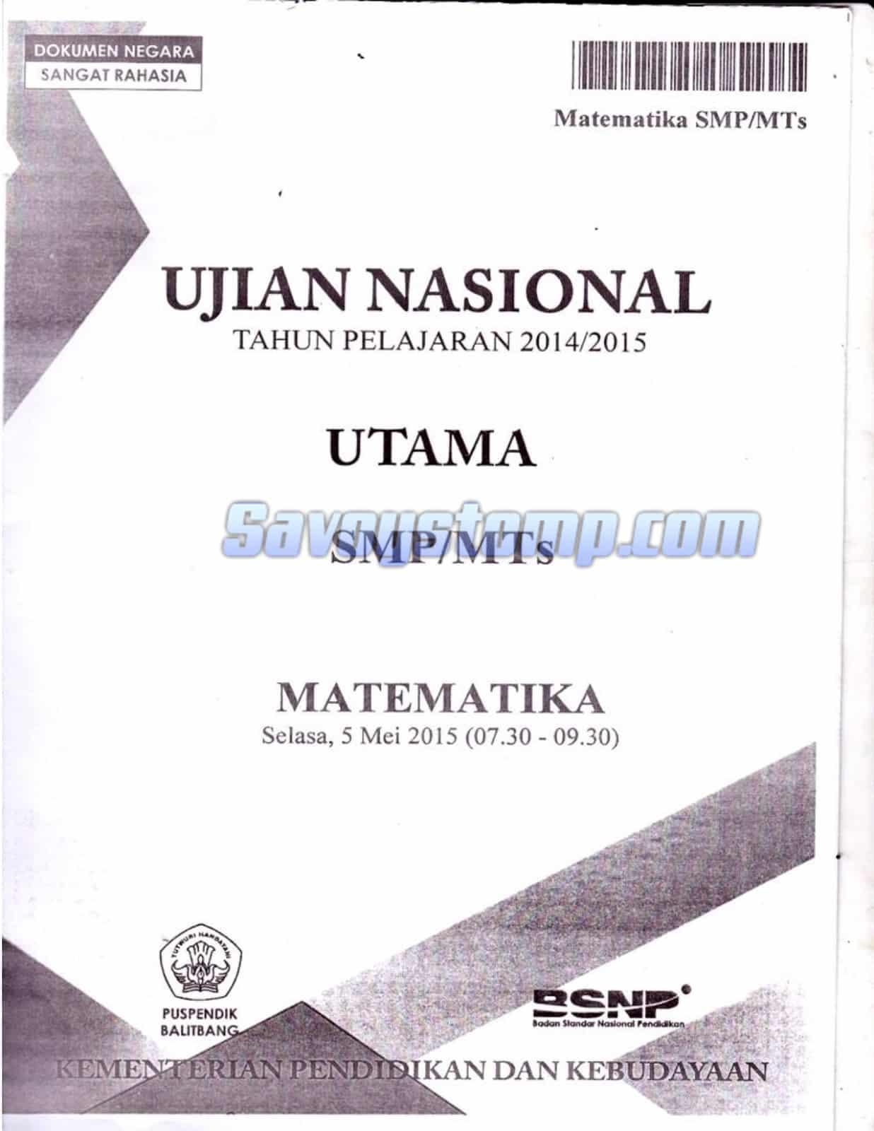Contoh-Soal-UN-Matematika-SMP-beserta-Pembahasan-untuk-Persiapan-Ujian-Nasional