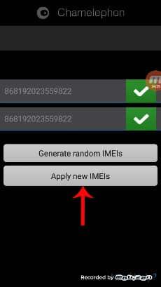 3. Konfirmasi IMEI