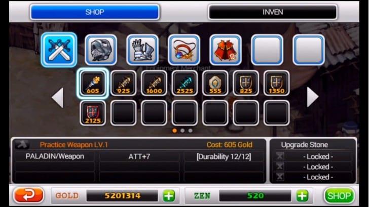 2. Dapatkan Equipment Tertinggi