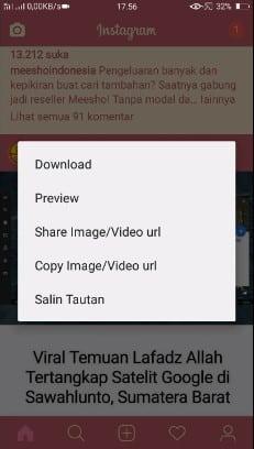 3. Download IGTV, Video, & Foto Secara Langsung