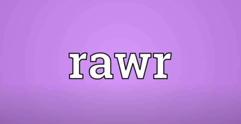 arti rawr meaning
